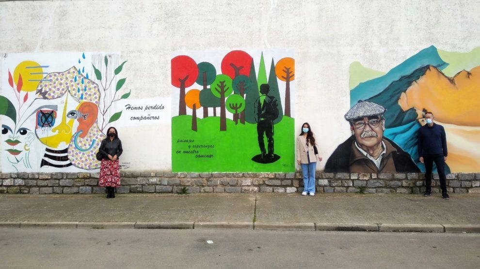 Los tres primeros murales del proyecto Somos
